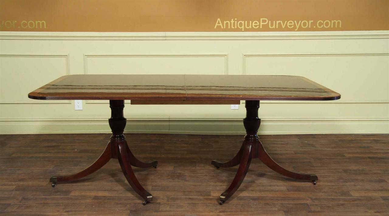 American made double pedestal mahogany dining table for Mahogany dining table