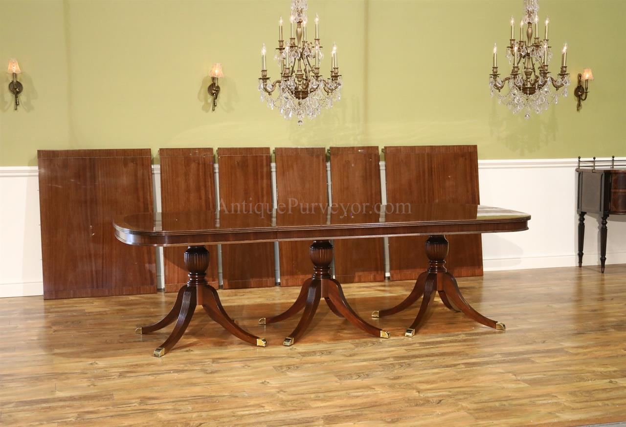 9 foot dining table. Extra Large American Made Mahogany Dining Table 9 Foot