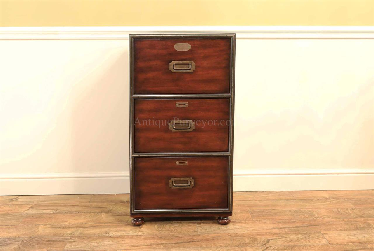 New Traditional mahogany file cabinet, three drawer filing cabinet