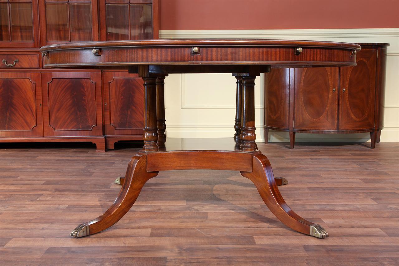 Large round dining table seats 6 - Niagra 60 Round Dining Table 84 Round Dining Table Perimeter Table