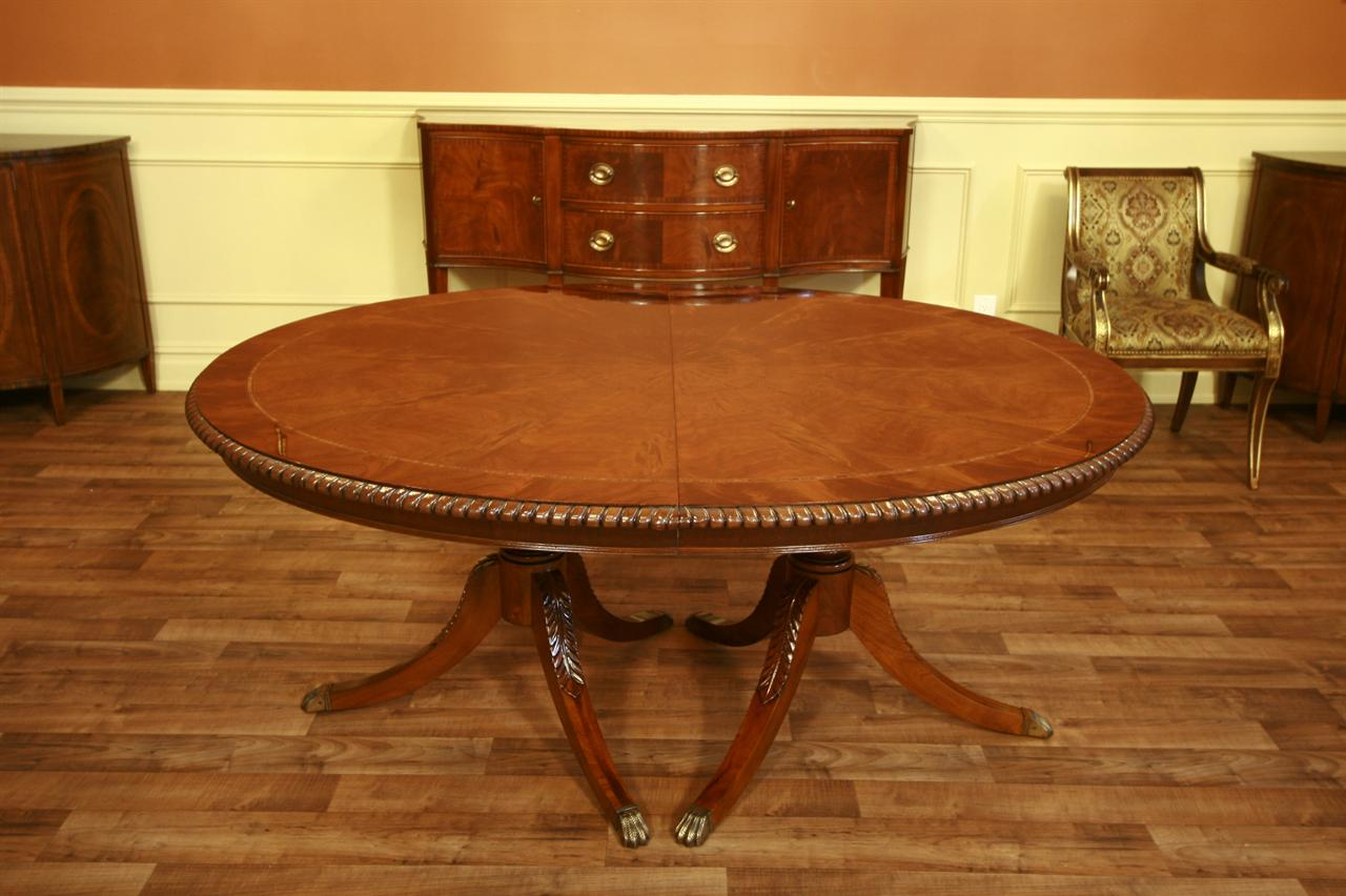 Henredon Dining Table Oval Dining Table Mahogany eBay : oval banded mahogany table with rope turn edge 4902 from www.ebay.com size 1280 x 852 jpeg 111kB