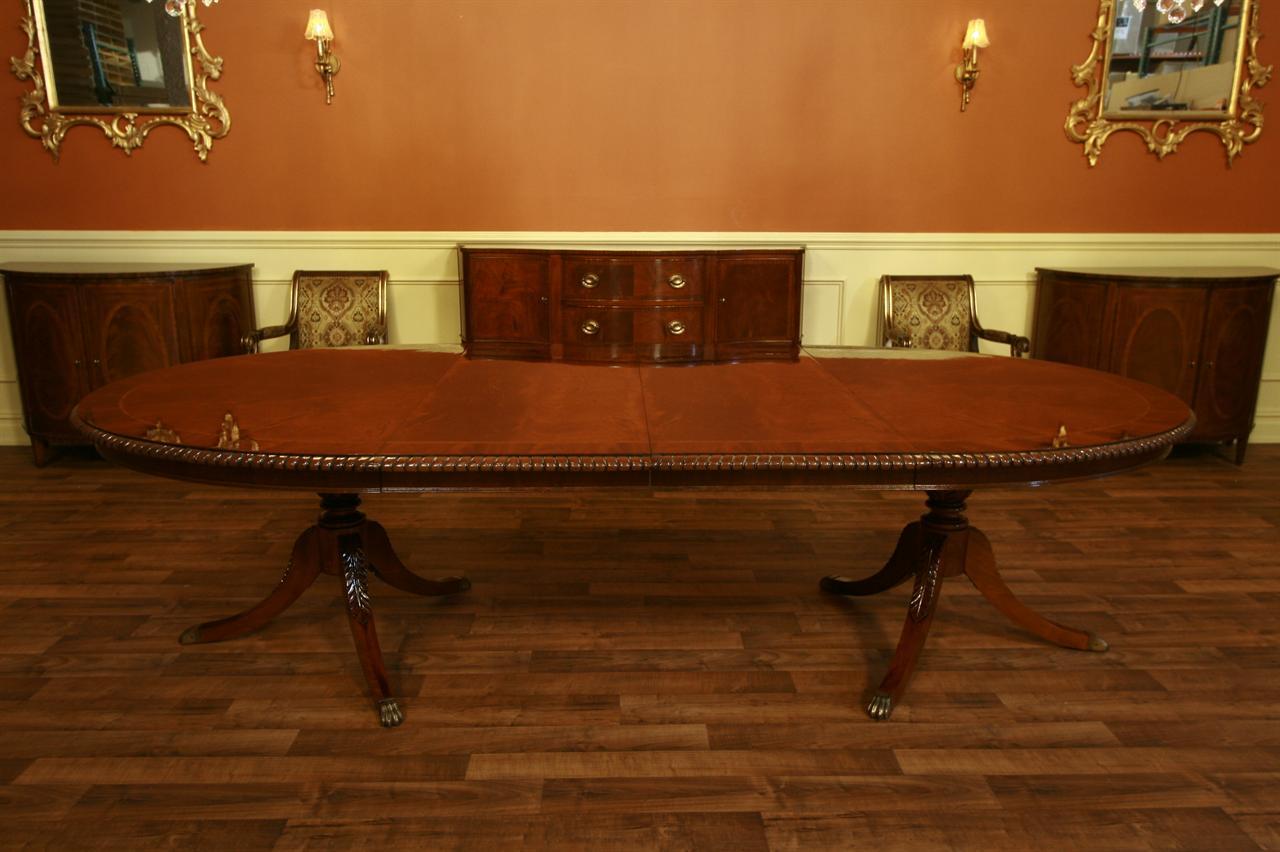 Henredon Dining Table Oval Dining Table Mahogany Ebay