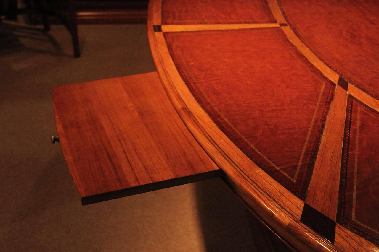 Oval Leather Top Conference Room Table Solid Oak Mindy Wood