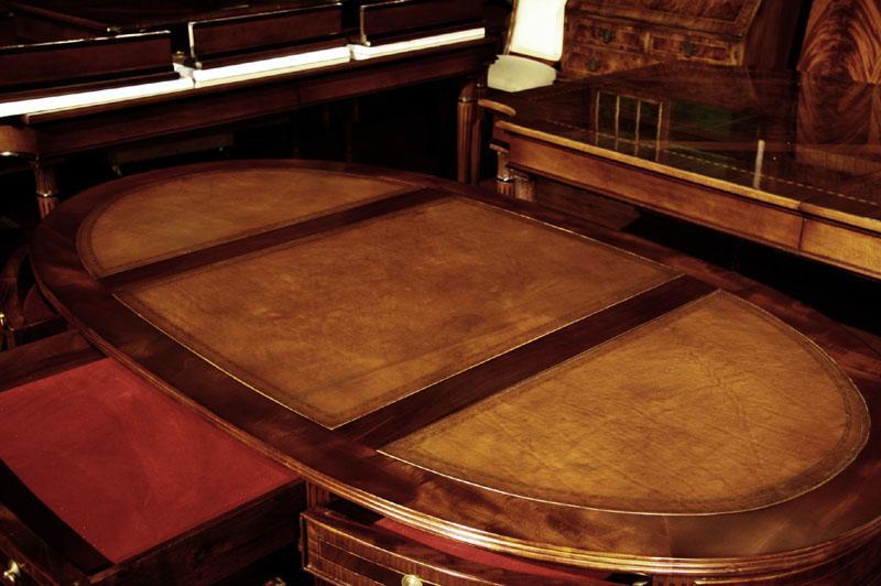 Gahek reclaimed wood partners desk - Oval office desk ...