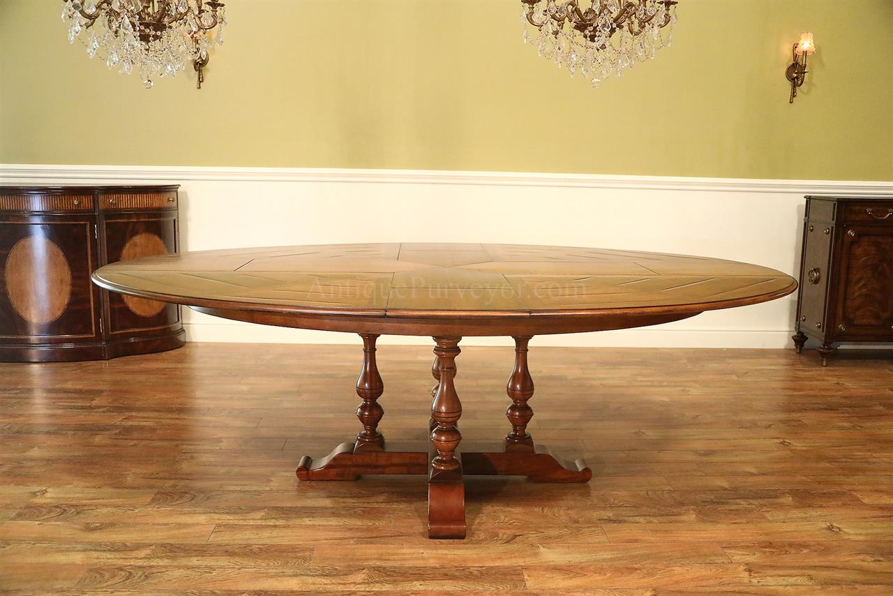 Oval walnut Jupe table 78-118 Sarreid Encore