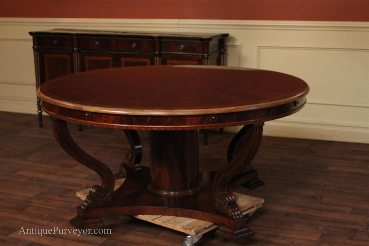 Dining Table Round Dining Table Fitted Chairs