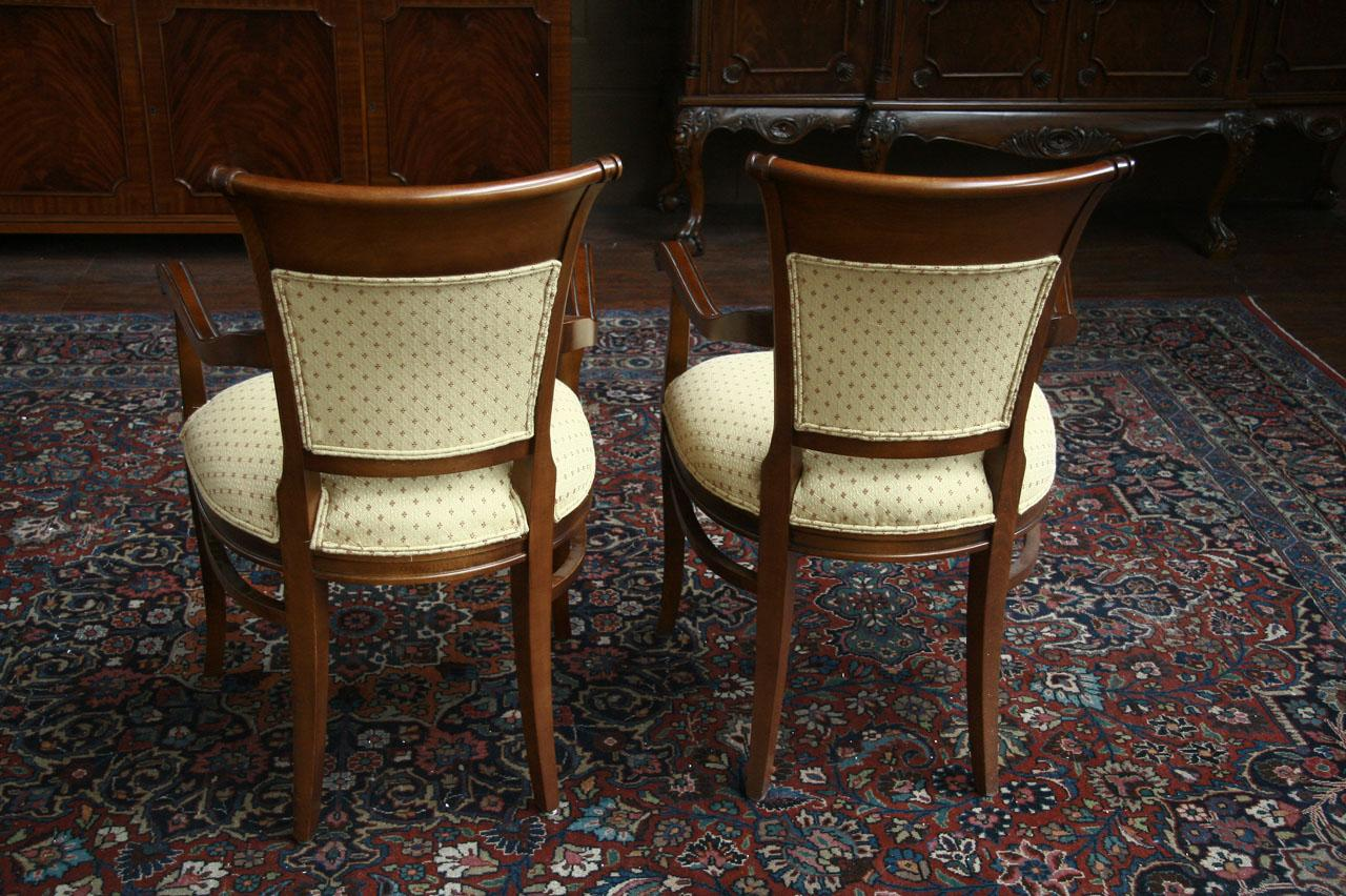 Pair of Upholstered Back dining chairs - 3028 Arm chairs