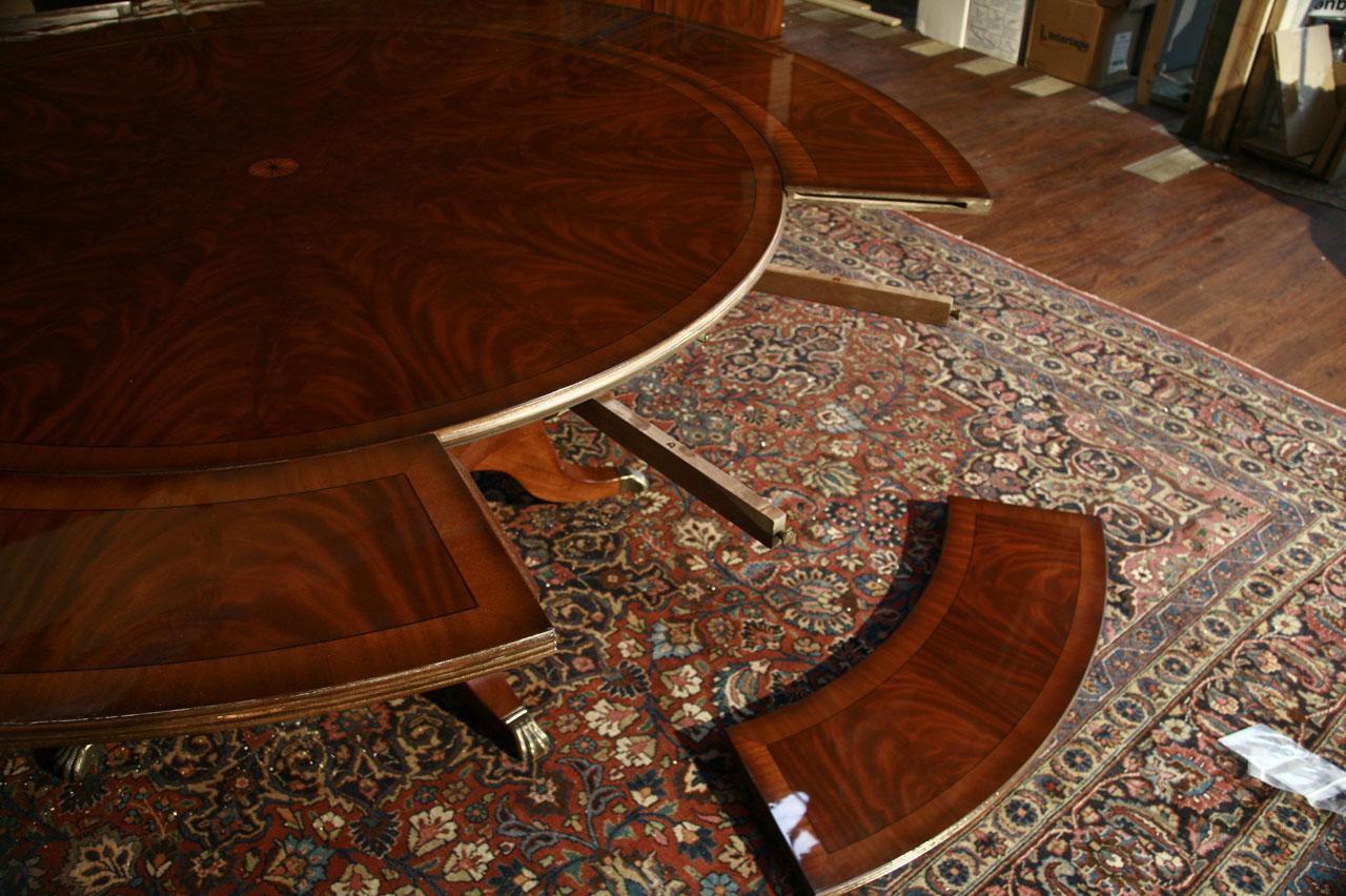 Dining Table Round Dining Table Perimeter Leaves