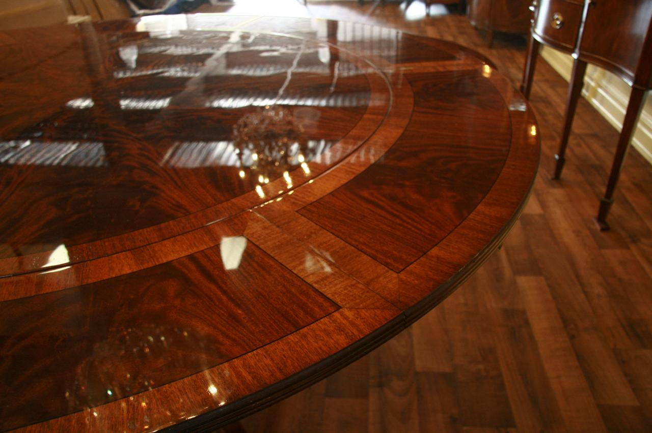 Perimeter table round dining table with perimeter leaves Round dinner table for 10