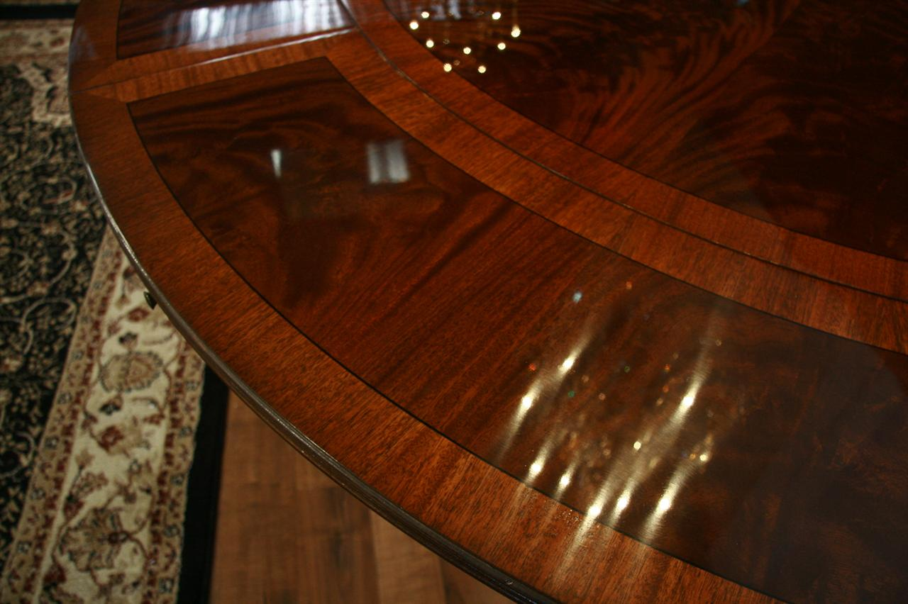Perimeter Table Round Dining Table W Perimeter Leaves Ebay