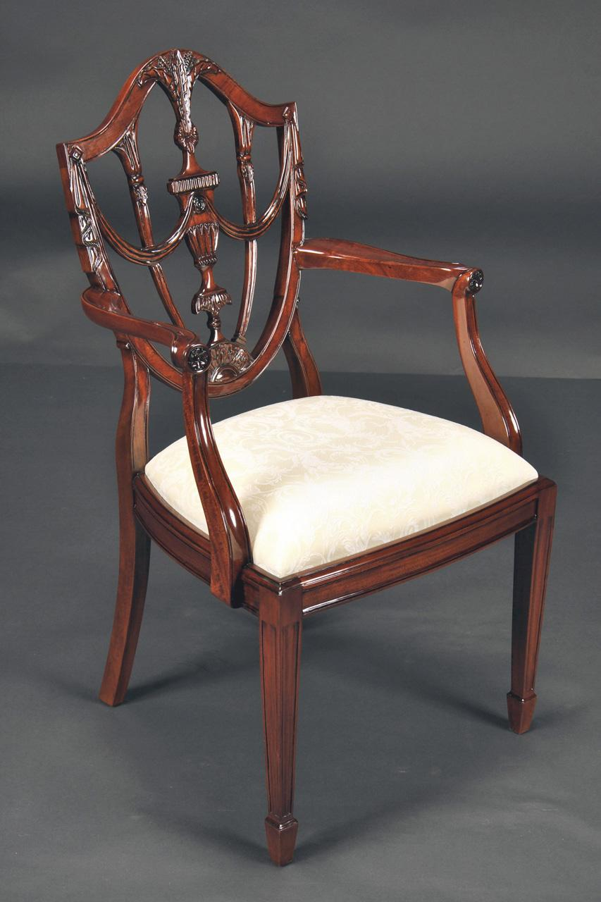 prince of wales mahogany carved shield back dining room chairs. Black Bedroom Furniture Sets. Home Design Ideas