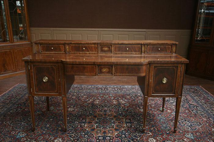 Quality Dining Room Sideboard | Flame Mahogany and Satinwood Inlays