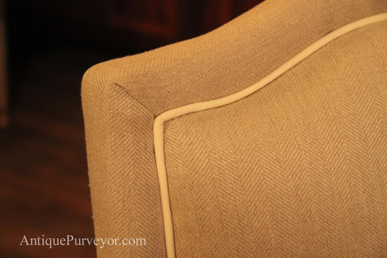 Upholstered Dining Room Arm Chairs Queen Anne Linen