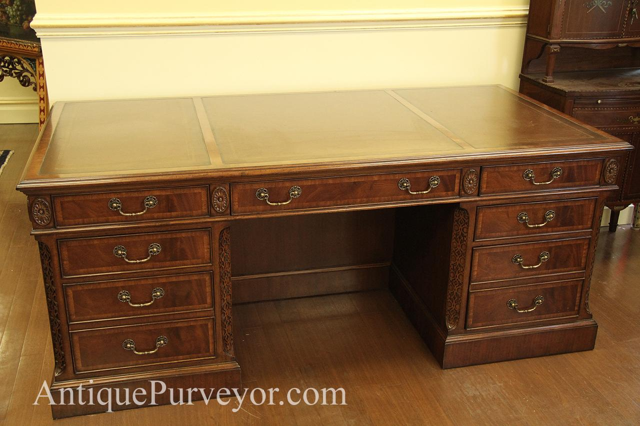 Luxury Gany Desk With Leather Top High End Executive For The Home Or Office