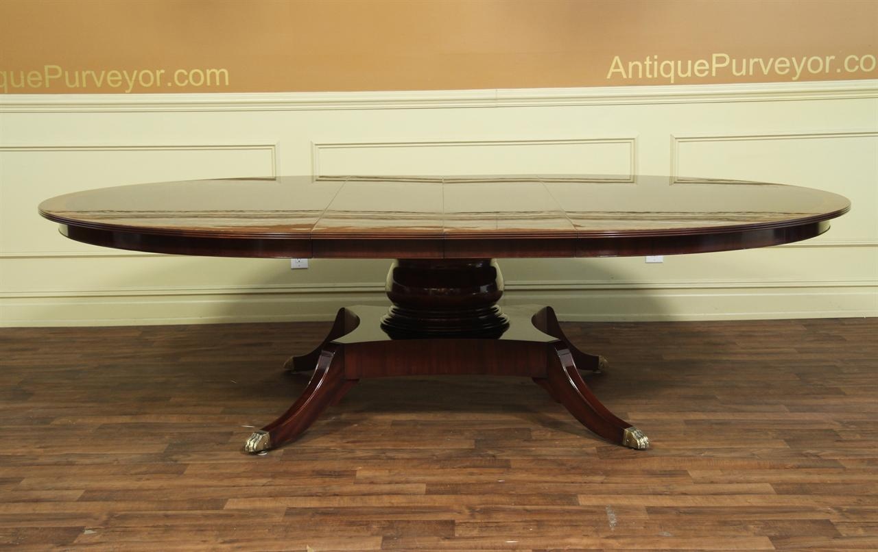 Custom mahogany dining table