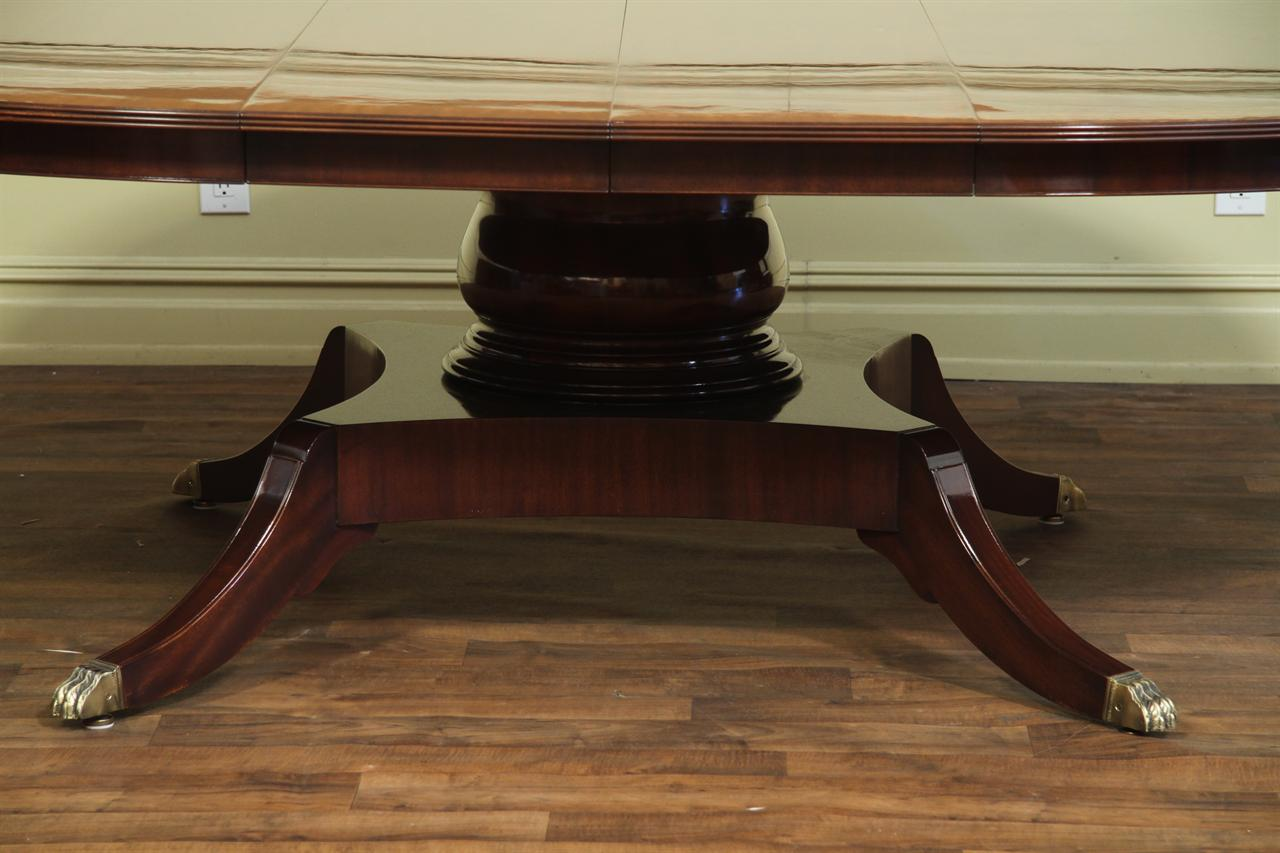 custom 78 inch round american made dining table with leaves 108 Inch Dining Table