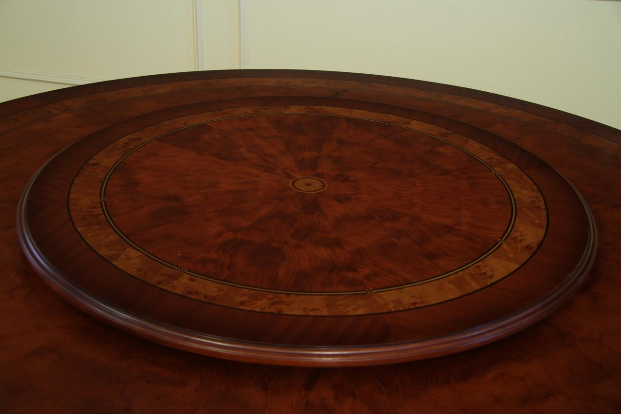 Affordable Round High End Dining Table Mahogany And Walnut
