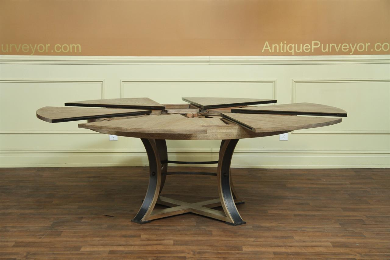 Jupe Table Transitional Jupe Table With Hammered Iron