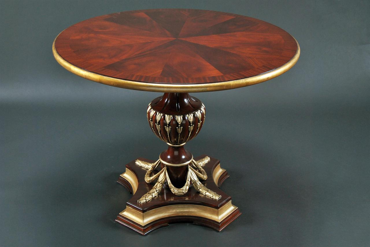 Round Gold Leaf Table