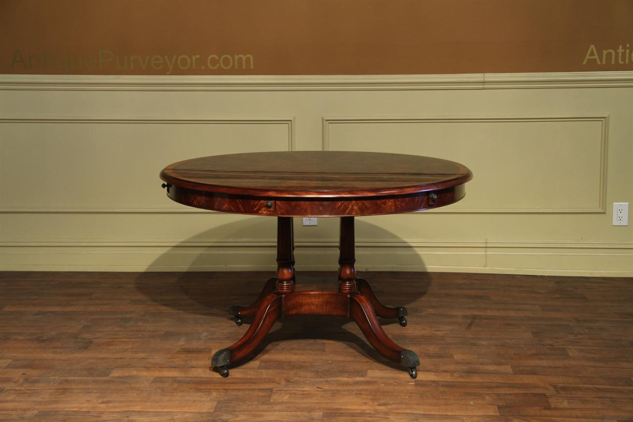 Round Mahogany Dining Table Expands from 50 to 74 inches : round mahogany dining table that opens to 74 inches 14528 from www.antiquepurveyor.com size 1280 x 853 jpeg 85kB