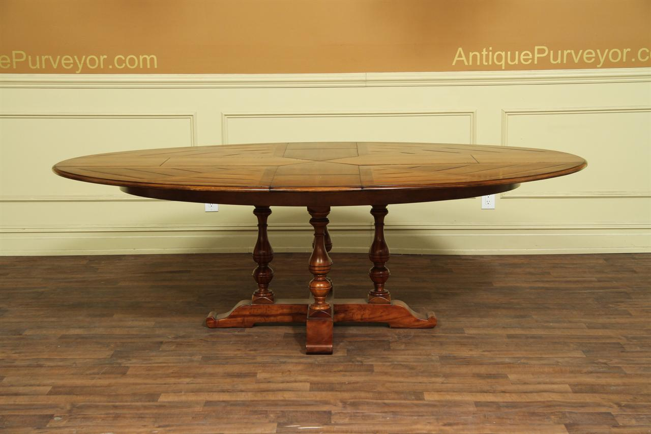 Solid Walnut Oval Expanding Dining Table