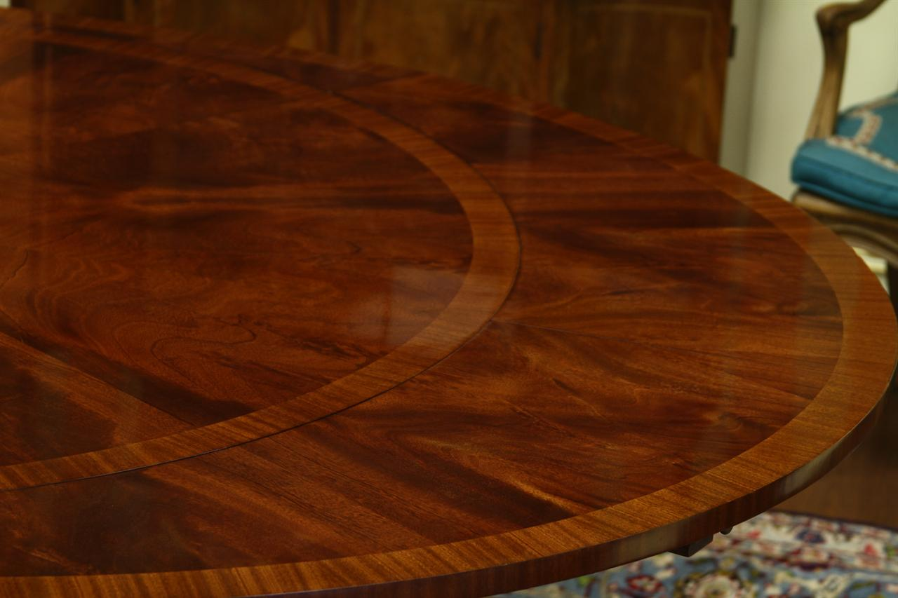 60 Round To 88 Oval Mahogany Dining Table With 4 Extensions