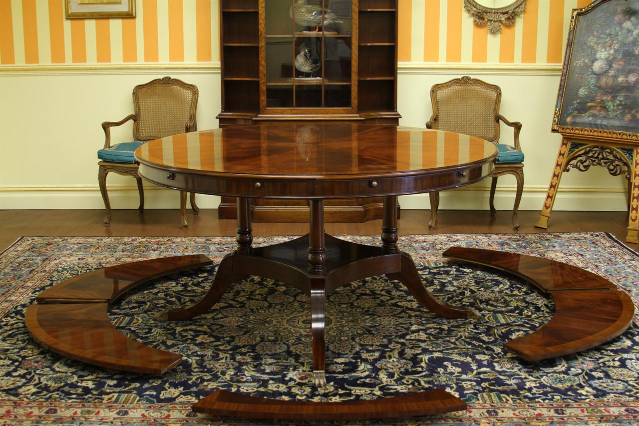 High End Modern Furniture: 60 To 88 Round To Oval Mahogany Dining Table, High End