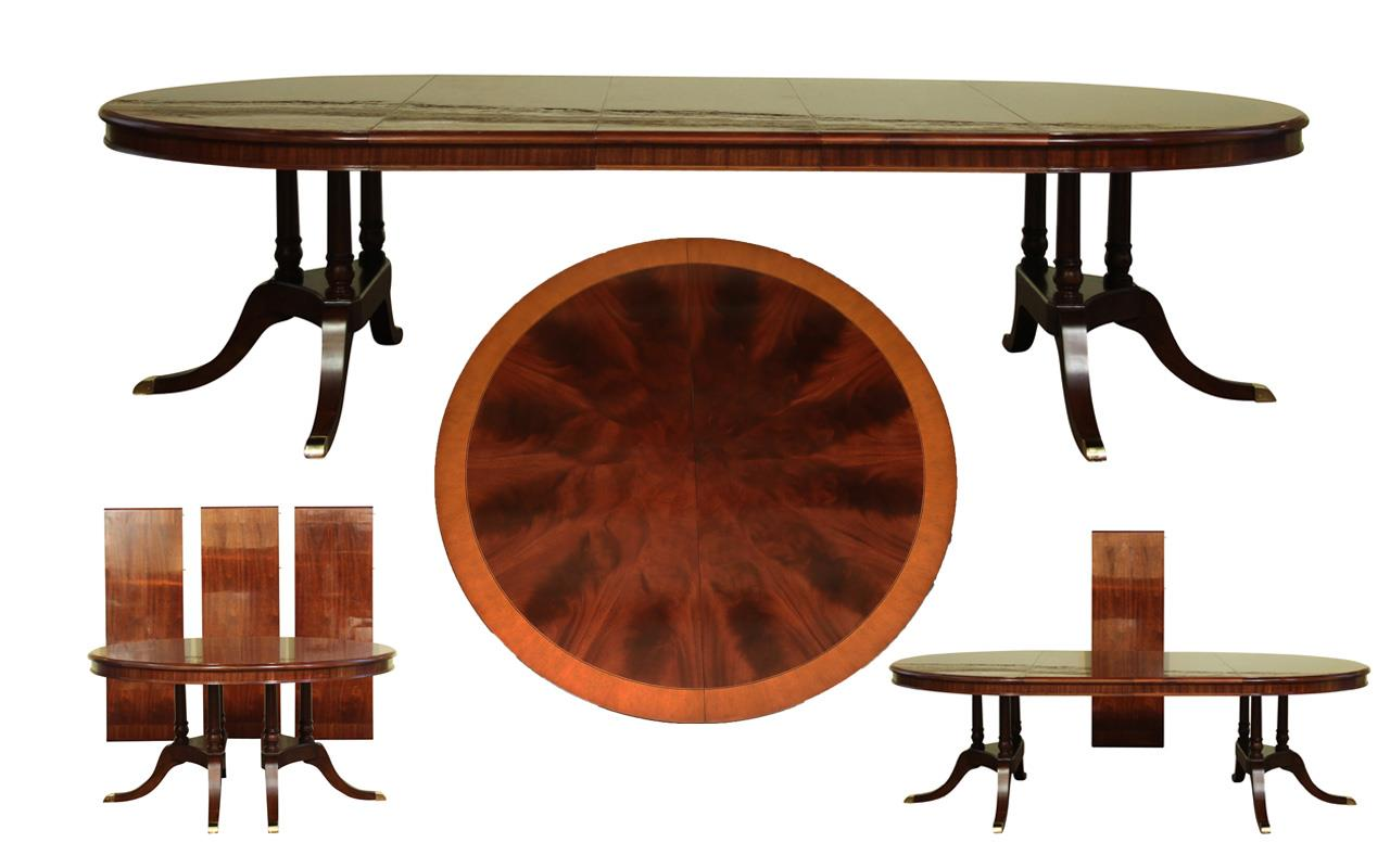 Large traditional round mahogany dining table for 6 to 12 for 12 round table