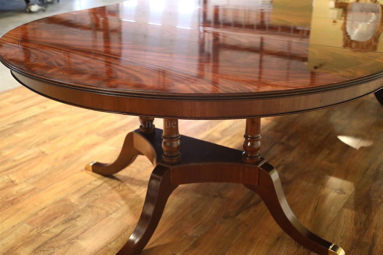 Round To Oval Mahogany Dining Table