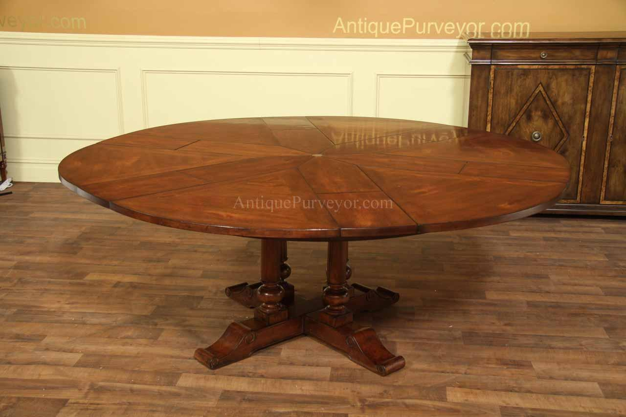 Country Jupe Table For Sale With Wood Or Painted Pedestals - Round farm table with leaf