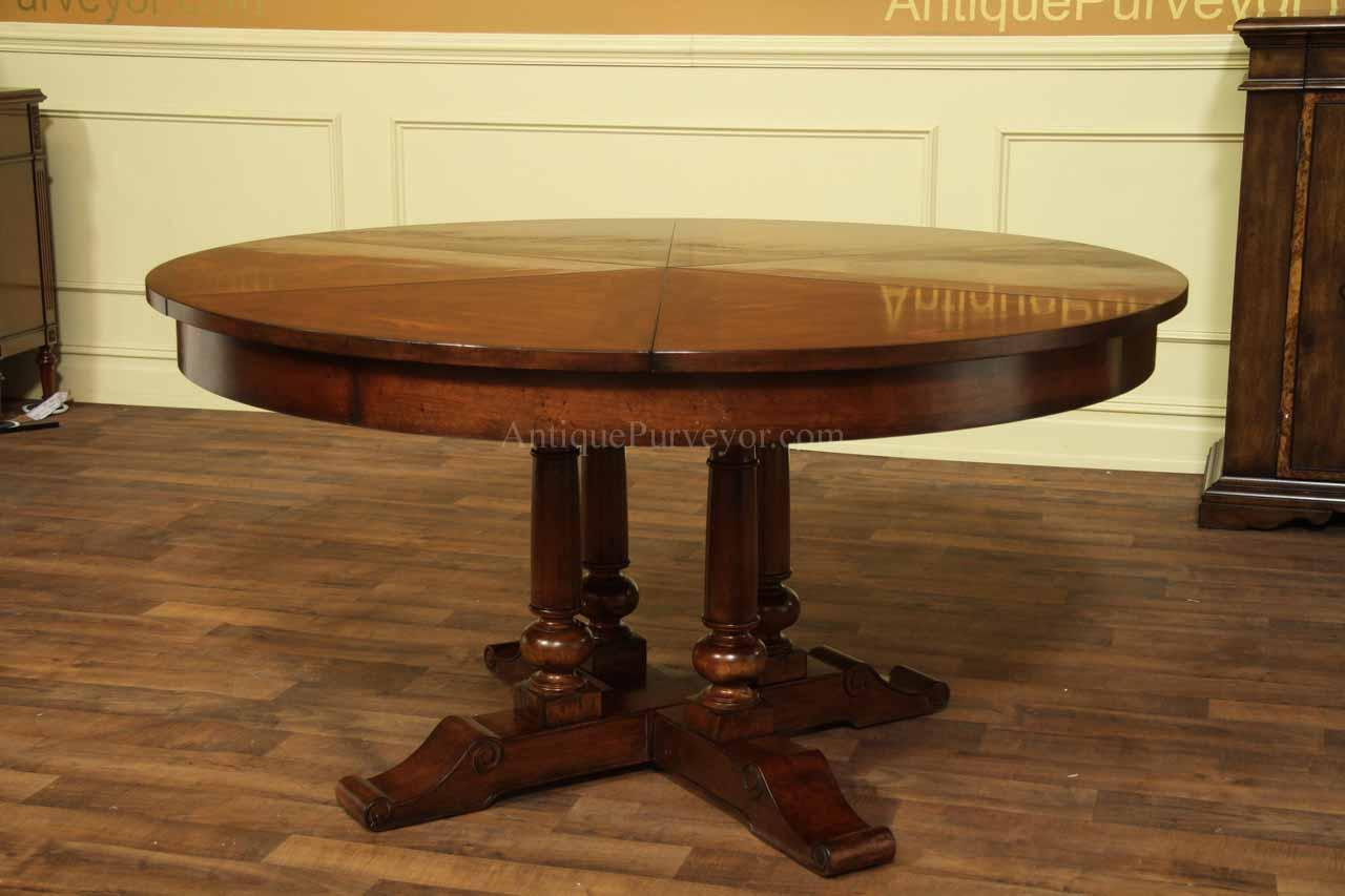 Round Dining Table 60 To 78 Round To Round Farm Jupe Table