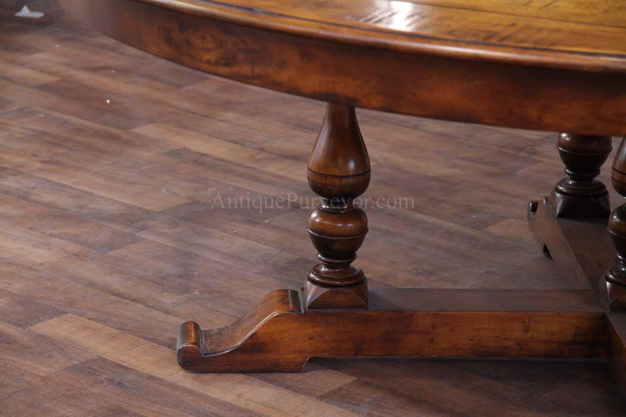54 70 Round To Round Solid Walnut Dining Table With Hidden