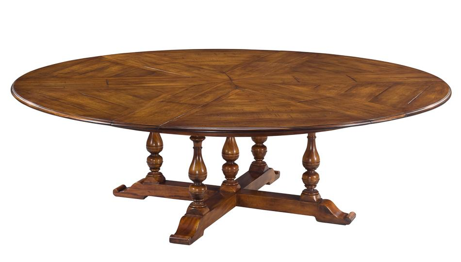 Jupe table extra large round solid walnut round dining table Round dinner table for 10