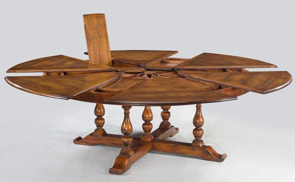 Rustic Round Dining Table For 8 jupe table | extra large round solid walnut round dining table