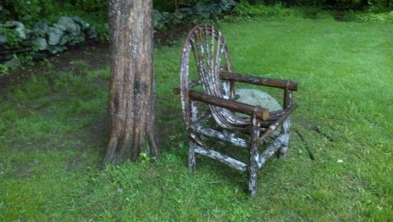 rustic outdoor patio set love seat side chairs and table