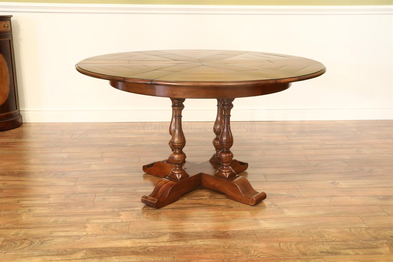 Small Solid Walnut, Rustic Finished Jupe Table for the Kitchen