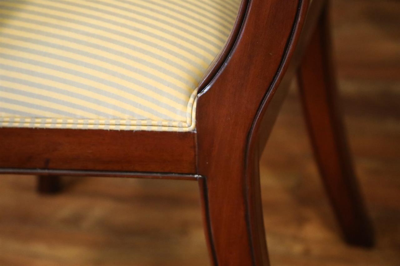 2 Arms And 4 Sides SALE Price Set Of 6 Mahogany DIning Room Chairs