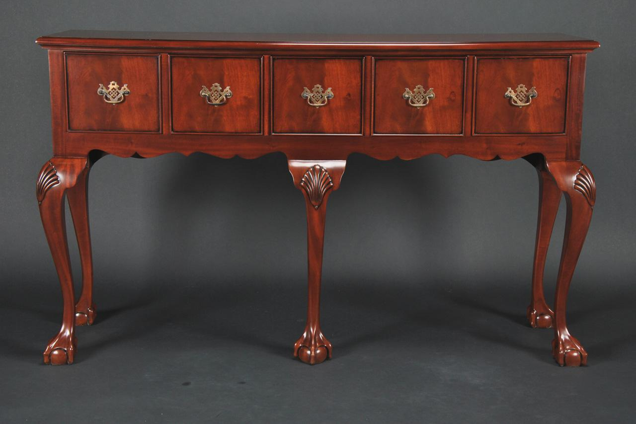 Mahogany Huntboard for Dining Room. Portable Sideboard.