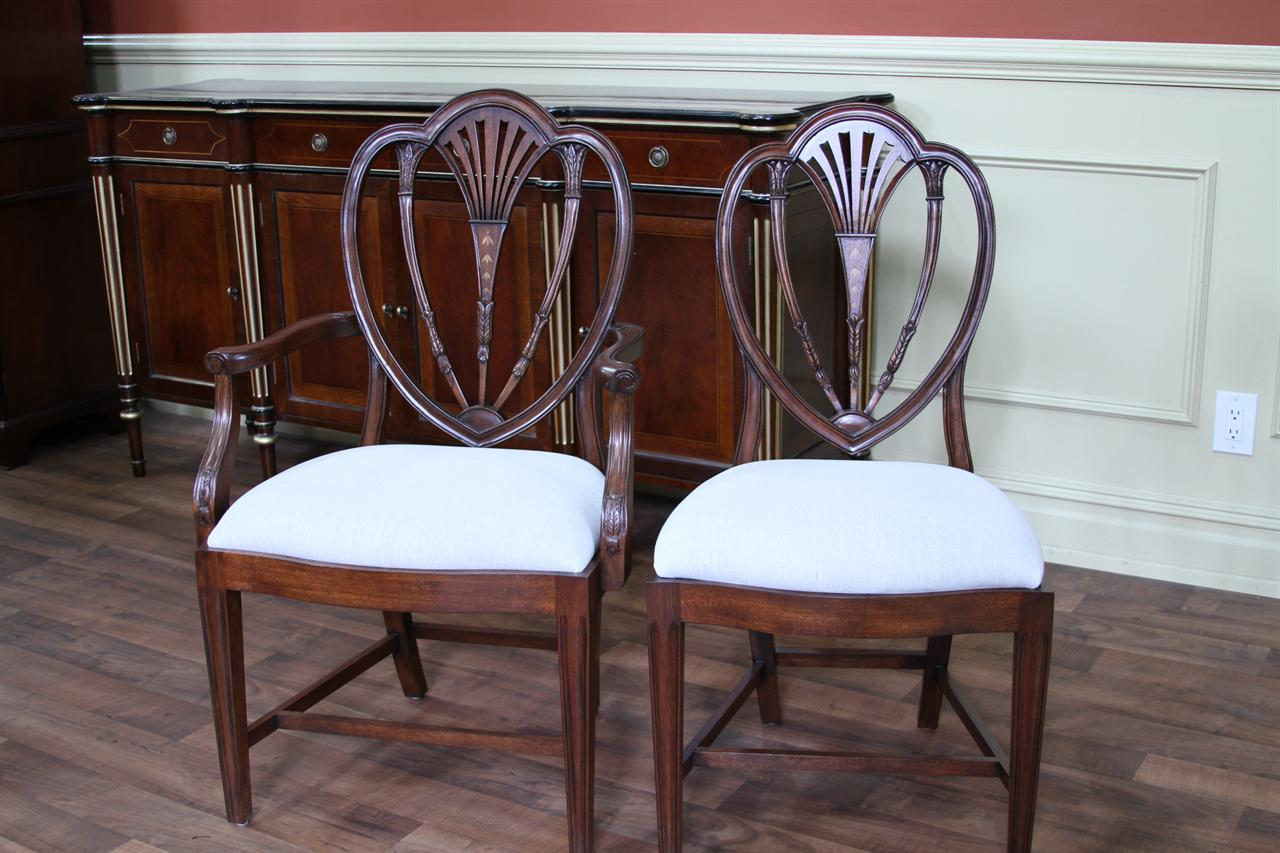 Inlaid mahogany dining room chairs  newer antique reproductions. Hepplewhite Chairs  High End Chairs  Tall Back Chairs