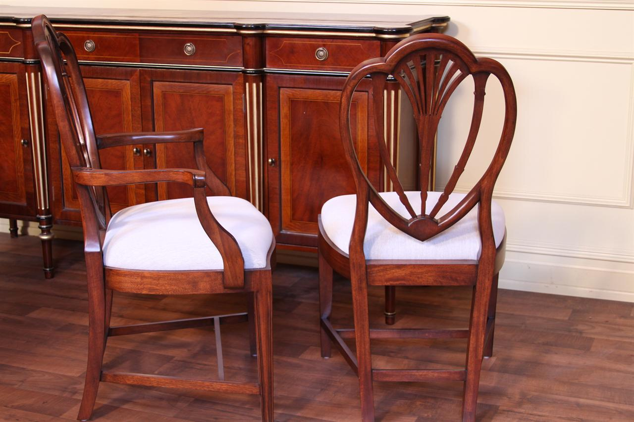 Tall Back Sheraton Style Dining Chairs Hepplewhite Chairs