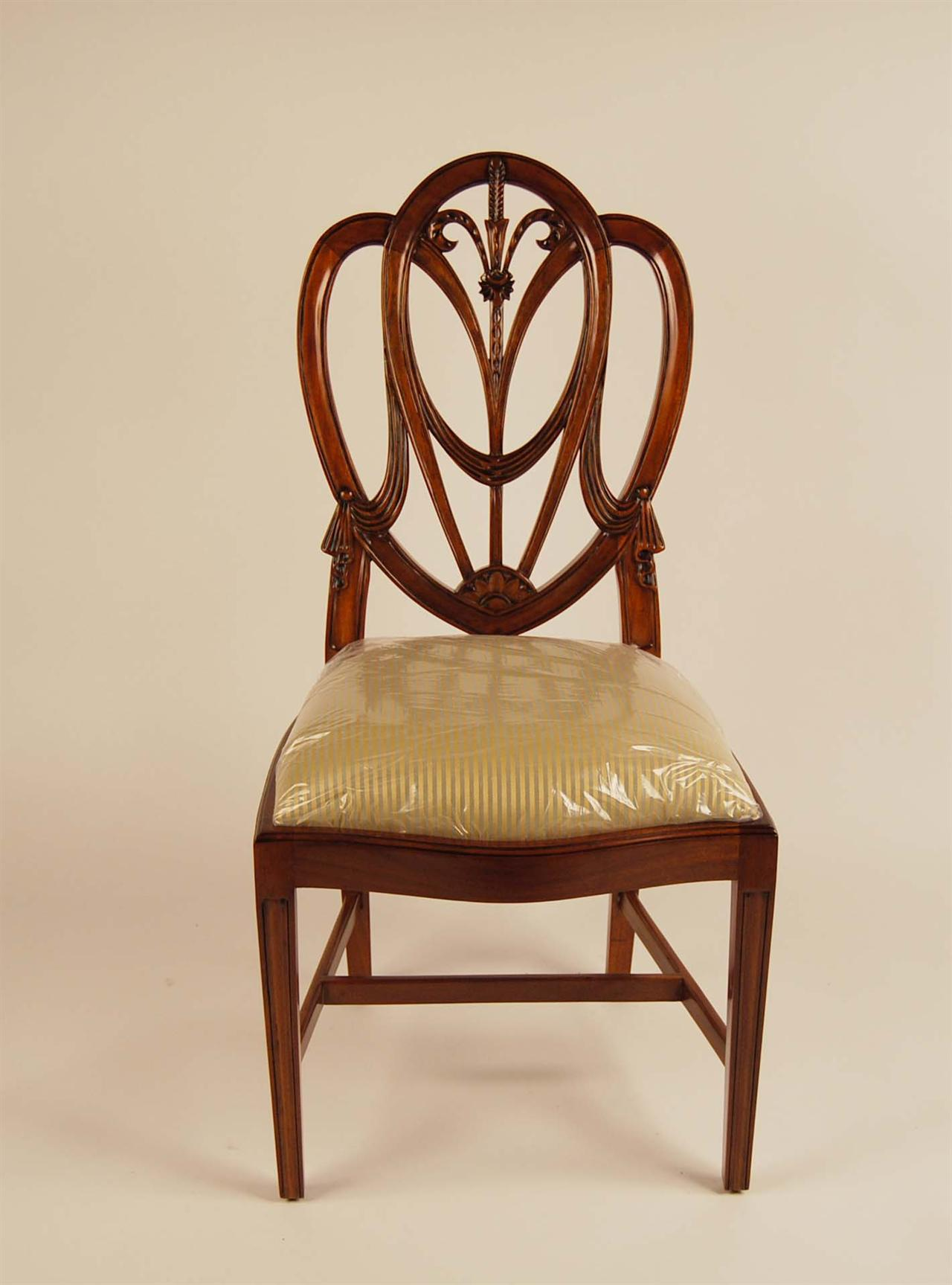 Mahogany shield back dining room chairs sweetheart ebay for Breakfast room chairs