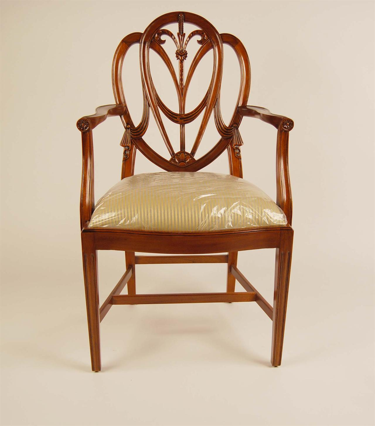 Shield Back Dining Chairs | Sweetheart Mahogany Shield Back Chairs