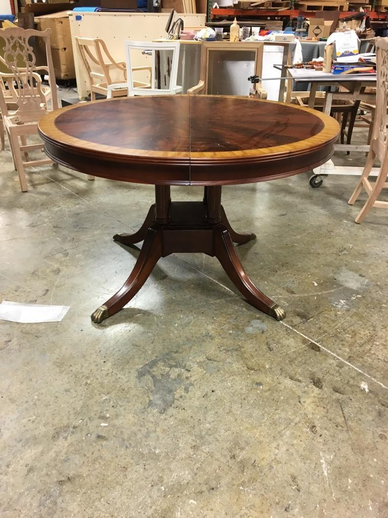 100 48 Inch Round Mahogany Wood Round Dining Room Table
