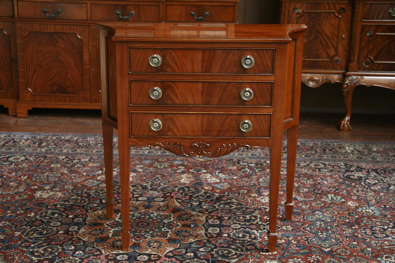 Small Three Drawer Mahogany Console or Buffet