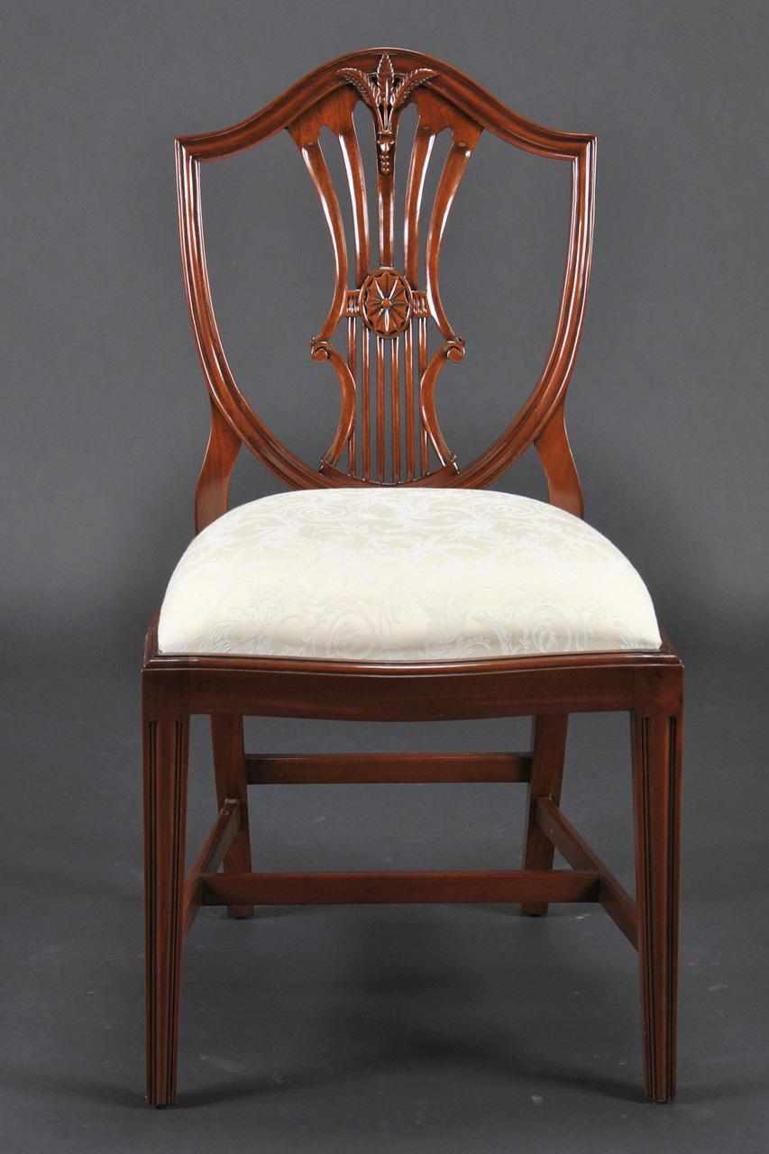Small Vintage Size Shield Back Dining Room Chairs|Solid ...