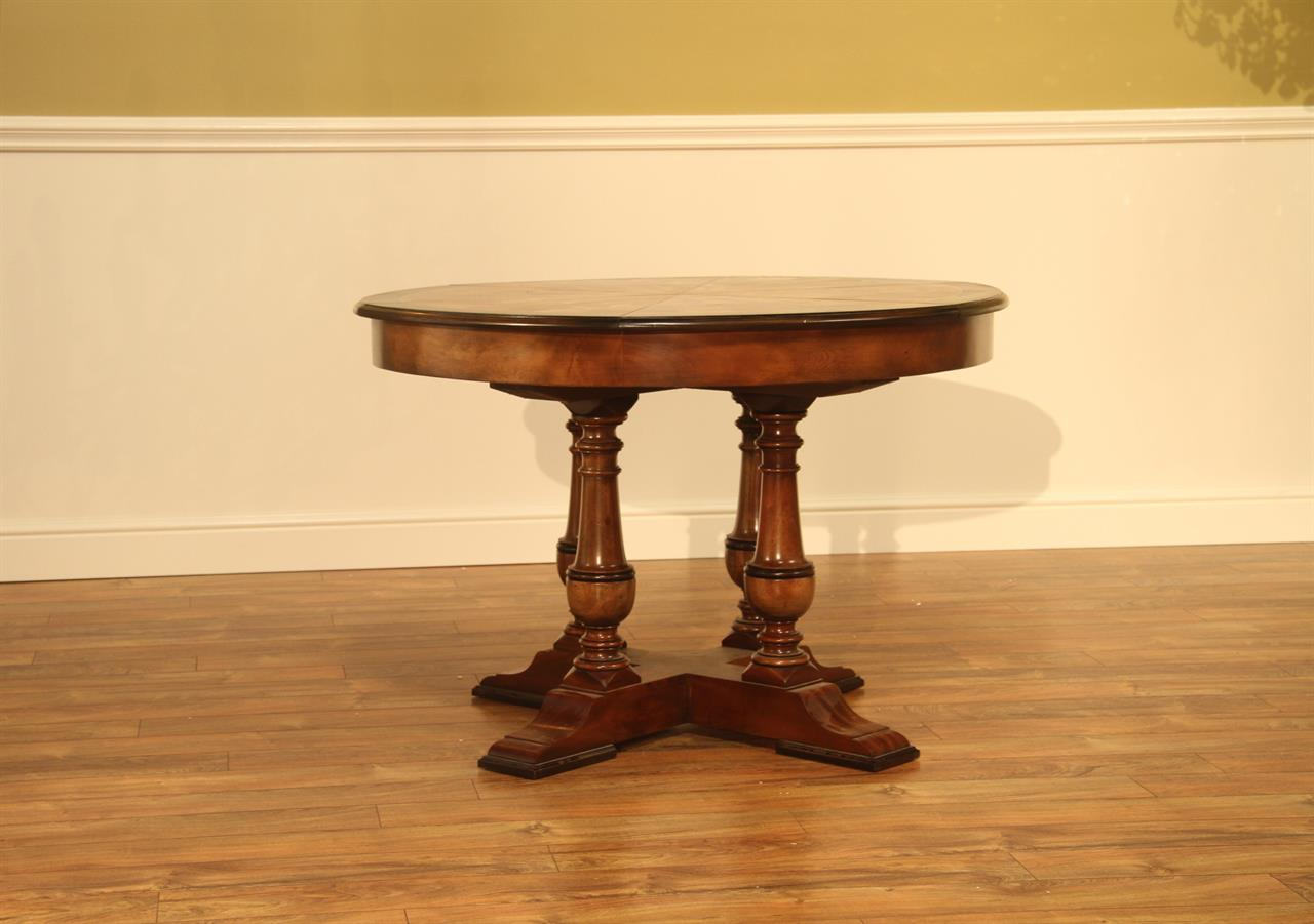 Small Walnut Jupe Table 45 To 56 Inch Round To Round