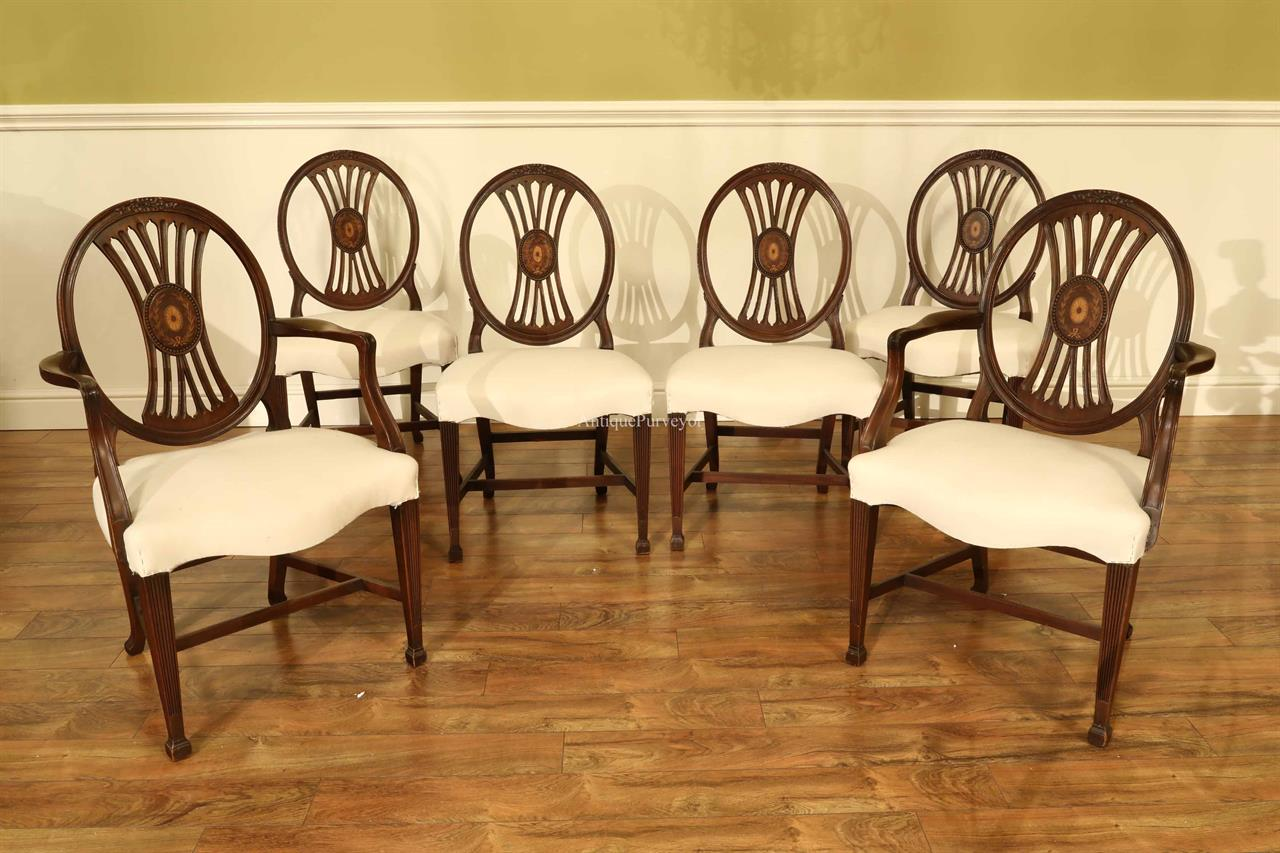 Solid Inlaid mahogany Chairs Set of Six