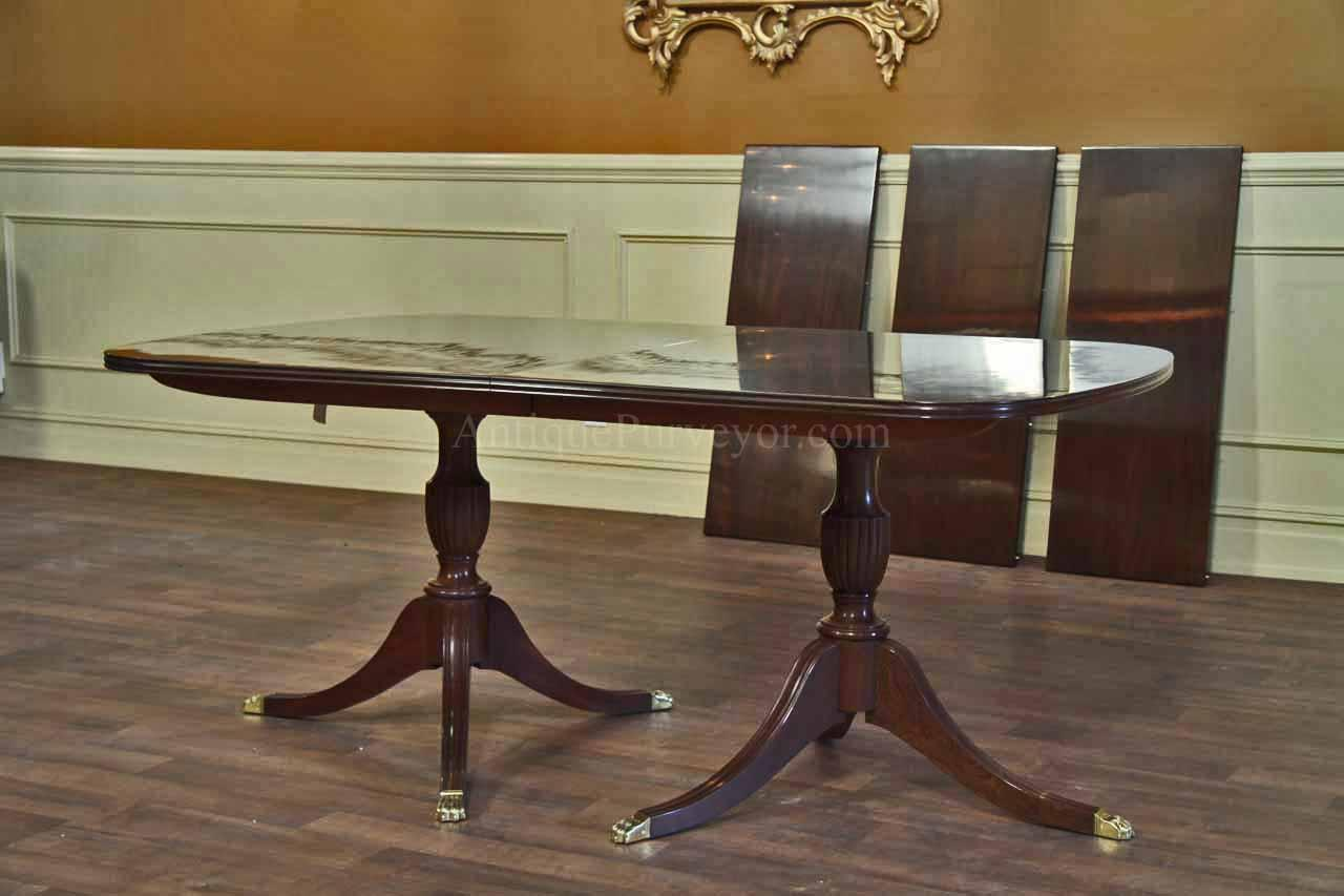 New Solid Mahogany Dining Table With Formal Polished Finish High End Table Ebay