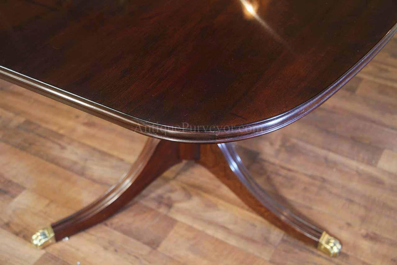 New American Made Solid Mahogany Dining Table W 3 Leaves