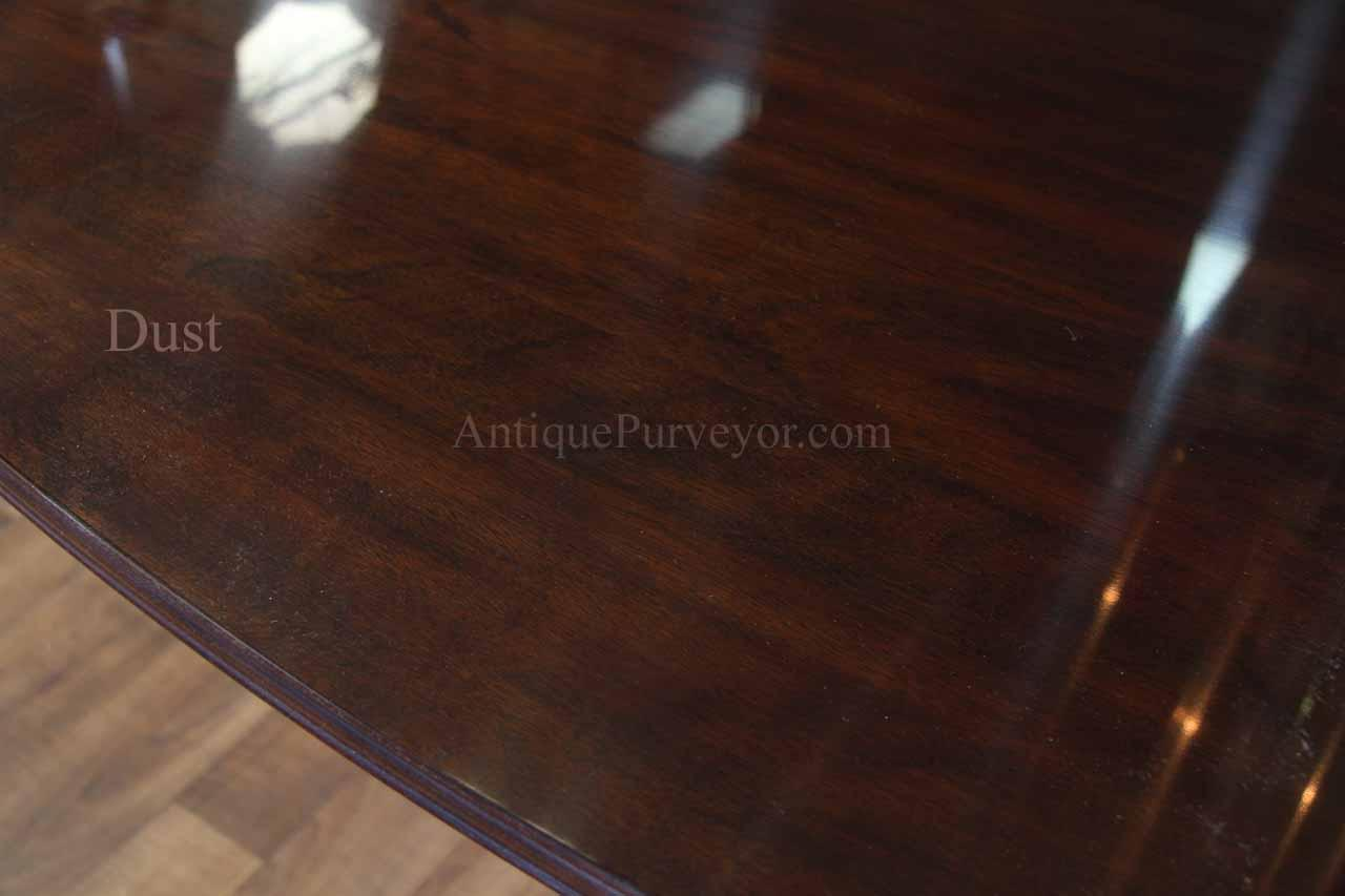 Henkel Harris Solid Mahogany Dining Table. True Color Is Dark Chocolate  Brown, Please Excuse The Warehouse Dust